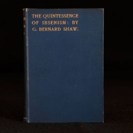 1891 The Quintessence of Ibsenism George Bernard Shaw First Edition Essay