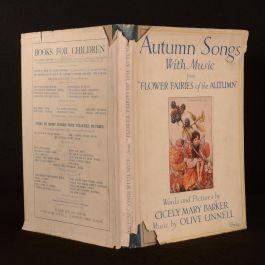 1927 Autumn Songs With Music Flower Fairies Barker Linnel First Edition Illustrated