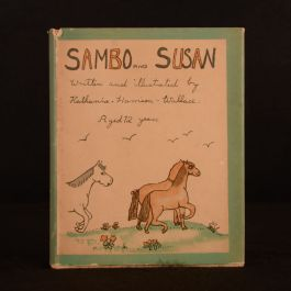 1938 Sambo and Susan and Other Tales Katherine Harrison-Wallace Dustwrapper Scarce