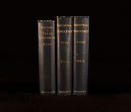 1894-1897 3Vols Webb History Of Trade Unionism And Industrial Democracy First Ed