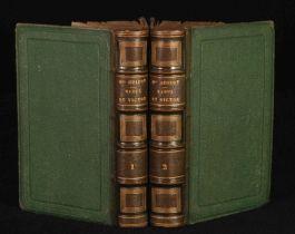 1859 2vols GUIZOT L'Ecolier ou Raoul et Victor FRENCH