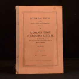 1944 A Corner Stone of Canadian Culture an Outline of the Arts and Crafts Tribes