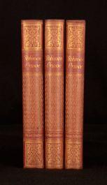 1925 3Vols D. Defoe Robinson Crusoe Adventures Farther Adventures & Reflections