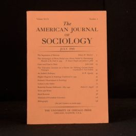 1940 The American Journal of Sociology July 1940 Volume XLVI Number I Indians