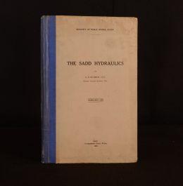 1938 The Sadd Hydraulics Signed 1st Ed Cairo Irrigation Channels Sadd El Kafara