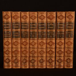 1853 8vol Byron's Works Childe Tales Poems Dramas Beppo Don Juan Miscellanies