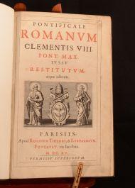 1615 Pontificale Romanum Clementis VIII Latin Pontifical Liturgy Very Scarce