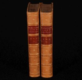 1883 2vols LORD MACAULAY Life & Letters Leatherbound