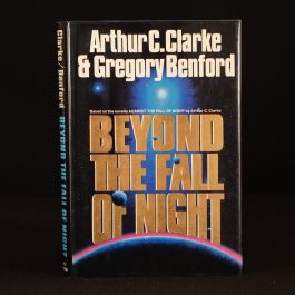 1990 Beyond the Fall of Night Arthur C Clarke Gregory Benford Signed First Ed