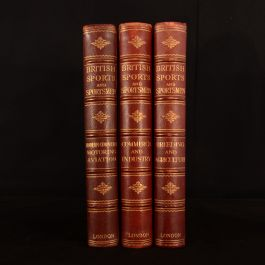 1931-1933 3vol British Sports and Sportsmen Limited Edition Aviation Industry Breeding