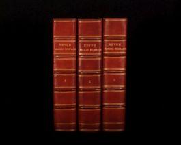 1895-6 3vol REVUE ANGLO-ROMAINE Recueil Hebdomadaire