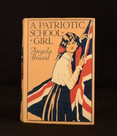 c1918 A Patriotic Schoolgirl Angela Brazil Balliol Salmon Illus Scarce Dustwrapper