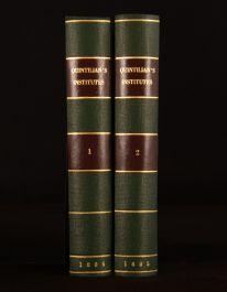 1805 2vol Quinctilian's Institutes of Eloquence Speaking in Public W. Guthrie