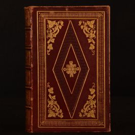 1852 Poetical Works of William Cowper Biography Illustrated Leather
