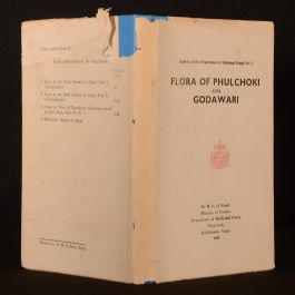 1969 Flora of Phulchoki and Godawari First Limited Edition Scarce Dustwrapper