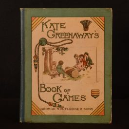 1889 Kate Greenaway's Book of Games Edmund Evans First Edition Colour Illustrated