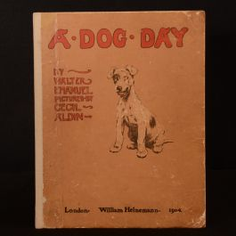 1904 A Dog Day or the Angel in the House Emanuel Aldin Colour Illustrated
