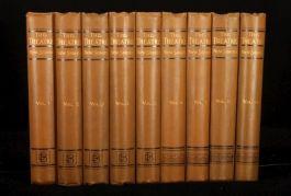 1883-1889 9 vol THEATRE New Series Clement SCOTT