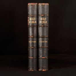 c1870 The Holy Bible Containing the Old and New Testaments Gustave Dore Illustra