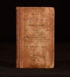 c1867 Witcomb Dr Fisher New Guide to Modern Conversation in English and German