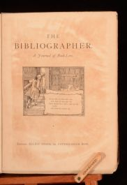 c1881 The Bibliographer Journal Of Book-Lore Volume I First Edition