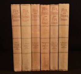 1894-1904 6vol Fur and Feather and Fin Series Salmon Pheasant Trout Partridge Grouse Hare