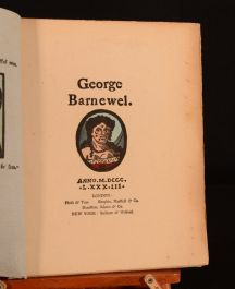 1883 2vol Crawhall Chap Book George Barnewel John and Joan Very Scarce First Ed