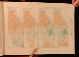 1906 Physiography of the River Nile and Its Basin Lyons Very Scarce Folding Maps
