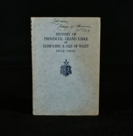 1939 History of Provincial Grand Lodge of Hampshire and Isle of Wight