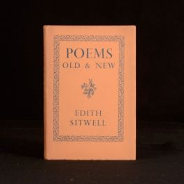 1940 Poems New and Old Edith Sitwell First Edition Dustwrapper Anthology