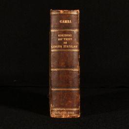 1812 Series Dell' Edizioni de' Testi de Lingua Italiana