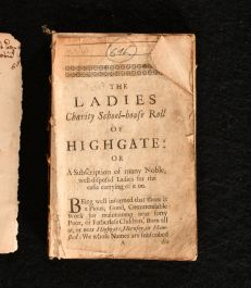 1680 The Ladies Charity School-House Roll of Highgate