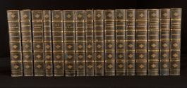 c1875 16vols Novels of William Harrison Ainsworth Illustrated Bickers Binding