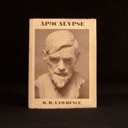 1932 Apocalypse D H Lawrence Intro by Richard Aldington First Ed First Impression