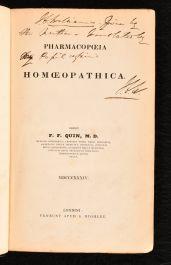 1834 Pharmacopoeia Homoepothica
