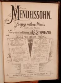 c1900 Songs without Words MENDELSSOHN Stephano