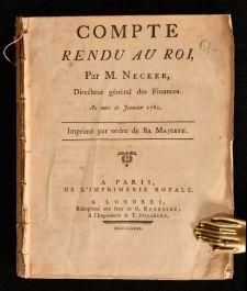 1781 Compte Rendu Au Roi