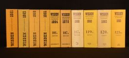 1951-86 10vols Wisden Cricketers Almanack Sports History John Wisden N. Preston