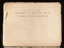 1884 Plans Excavations Sections Results of the Excavations at Jerusalem