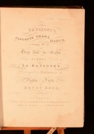 c1850 Taglioni's Favorite Shawl Dance Ballet Sheet Music In Leather Binding