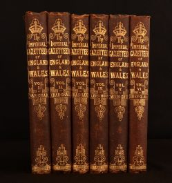 1877 6vol The Imperial Gazetteer of England and Wales John Wilson Coloured Plates