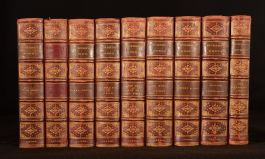 1844 - 1877 9vol Charles Dickens Oliver Twist Bleak House Dombey and Son Little Dorrit Illustrated