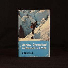 1963 Across Greenland in Nansen's Track Bjorn Staib Illustrated Dustwrapper Exploration