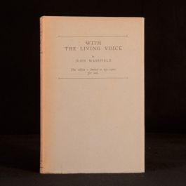 1925 With The Living Voice John Masefield Limited Edition Signed Address 1st Ed