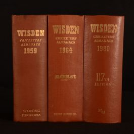 1959-80 3vols Wisden Cricketers Almanack Sporting Handbook Norman Preston