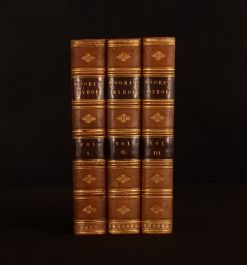 1833 3vol Letters and Journals of Lord Byron Thomas Moore Illustrated 3rd