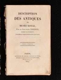 1817 Description des Antiques du Musee Royal