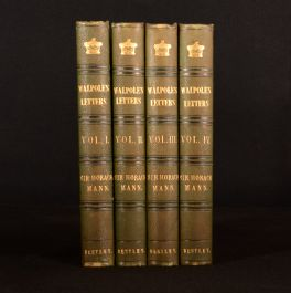 1843-45 4vol Letters of Horace Walpole Earl of Orford Horace Mann Fine Binding