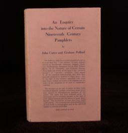 1934 Carter And Pollard An Enquiry First Edition With Original Dustwrapper