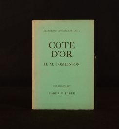 1929 Cote d'Or H. M. Tomlinson First Edition Signed Dustwrapper